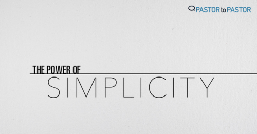 View article The Power Of Simplicity… Part 1