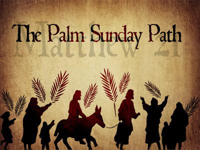 view the PowerPoint Template Palm Sunday Path