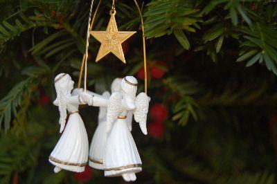 media Christmas Angel Ornament