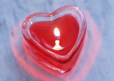 media Heart Candle
