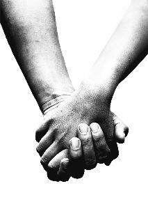media Holding Hands - Black And White