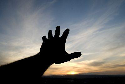 media Worship Hand Sunset