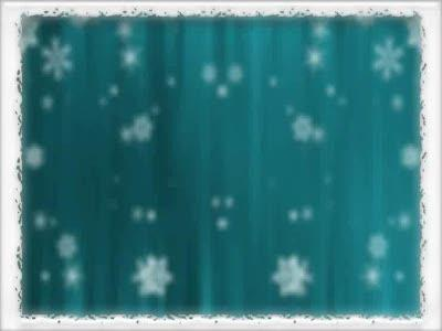 media Bordered Snowfall - Teal