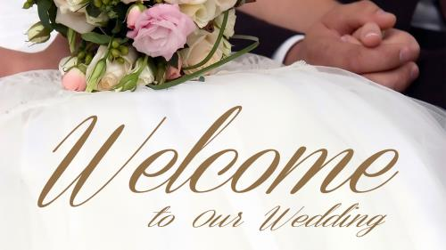 view the PowerPoint Template Wedding Welcome Bouquet