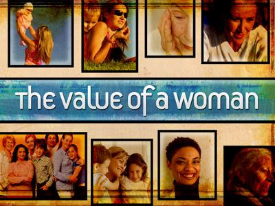 view the PowerPoint Template Value Of A Woman