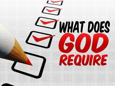 media What Does God Require
