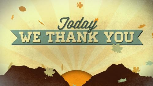 media Today We Thank You Worship Intro