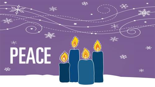 media Advent Candles - Peace