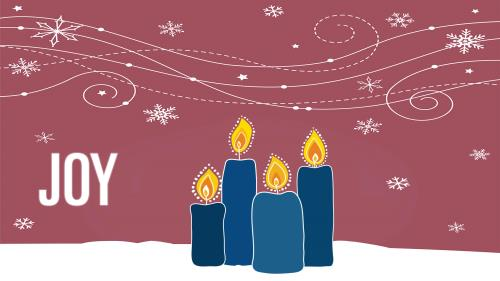 media Advent Candles - Joy