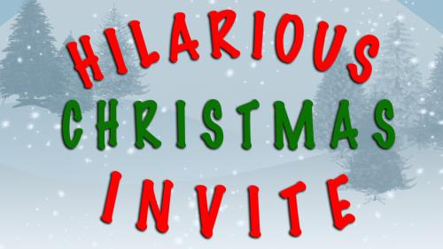 media Hilarious Christmas Invite