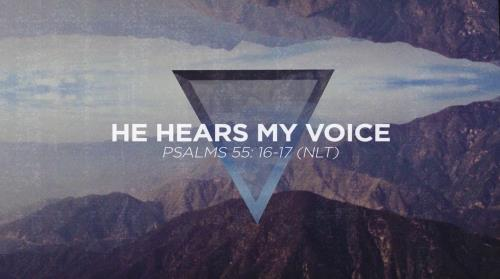 view the Worship Music Video He Hears My Voice
