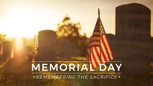 view the PowerPoint Template Memorial Day - Remembering The Sacrifice