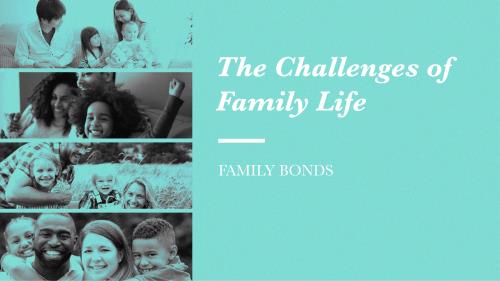 view the PowerPoint Template Family Bonds