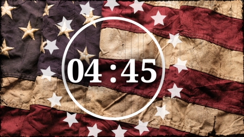 view the Countdown Video Vintage Flag