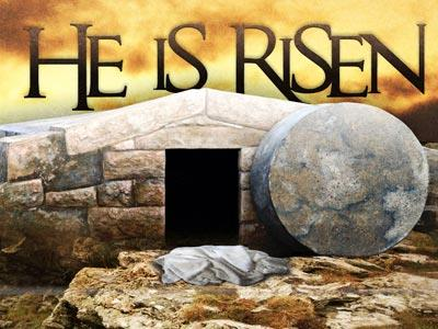 media He  Is  Risen Tomb